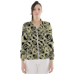 Linear Geometric Print Pattern Mosaic 2 Women s Windbreaker by dflcprintsclothing