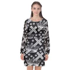 Royalcrowns Long Sleeve Chiffon Shift Dress  by PollyParadise