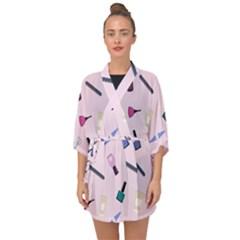 Accessories For Manicure Half Sleeve Chiffon Kimono by SychEva