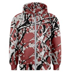 Vibrant Abstract Textured Artwork Print Men s Zipper Hoodie