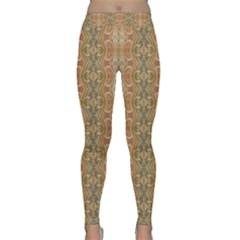 Vintage Ornate Geometric Pattern Classic Yoga Leggings by dflcprintsclothing