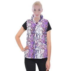 Blooming Lilacs Spring Garden Abstract Women s Button Up Vest by CrypticFragmentsDesign