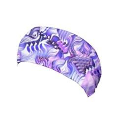Weeping Wisteria Fantasy Gardens Pastel Abstract Yoga Headband by CrypticFragmentsDesign