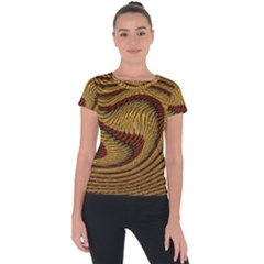 Golden Sands Short Sleeve Sports Top  by LW41021