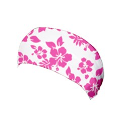Hibiscus Pattern Pink Yoga Headband by GrowBasket