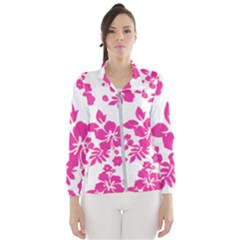 Hibiscus Pattern Pink Women s Windbreaker by GrowBasket