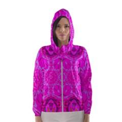 Purple Flower 2 Women s Hooded Windbreaker by LW323