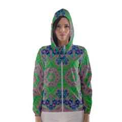 Spring Flower3 Women s Hooded Windbreaker by LW323