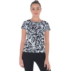 Beyond Abstract Short Sleeve Sports Top