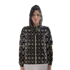 Geometric Textured Ethnic Pattern 1 Women s Hooded Windbreaker by dflcprintsclothing