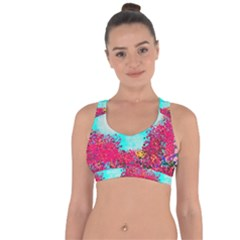 Flowers Cross String Back Sports Bra by LW323
