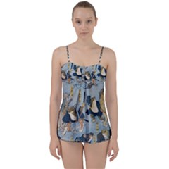 Famous Heroes Of The Kabuki Stage Played By Frogs  Babydoll Tankini Set by Sobalvarro