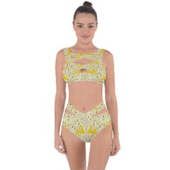 Sunshine Colors On Flowers In Peace Bandaged Up Bikini Set  by pepitasart