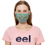 Collection: Acquerello <br>Print Design: Odonata<br>Style: Face Covering (Ear Loop Mask)
