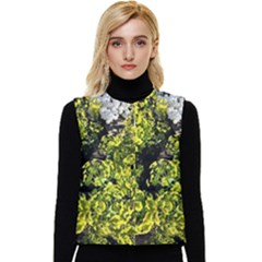 Acid Green Patterns Women s Button Up Puffer Vest by meanmagentaphotography