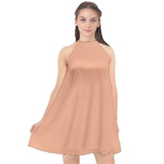 Coral Sands Halter Neckline Chiffon Dress  by FabulousChoice