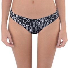 Black And White Modern Abstract Design Reversible Hipster Bikini Bottoms by dflcprintsclothing