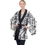 Womens Robe Kimono Oriental Long Sleeve Velvet Kimono