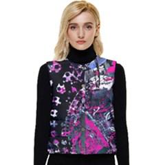 Rollercoaster Women s Short Button Up Puffer Vest by MRNStudios