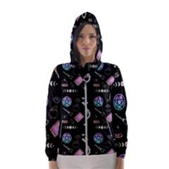 Witch Goth Pastel Pattern Women s Hooded Windbreaker