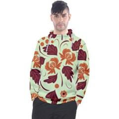 Folk Flowers Pattern Men s Pullover Hoodie by Eskimos