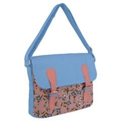 Flower Peach Blossom Buckle Messenger Bag by flowerland