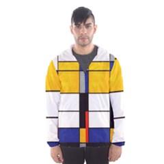Composition A By Piet Mondrian Men s Hooded Windbreaker