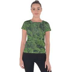 Leafy Forest Landscape Photo Short Sleeve Sports Top  by dflcprintsclothing