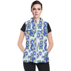 Flower Bomb 7 Women s Puffer Vest by PatternFactory
