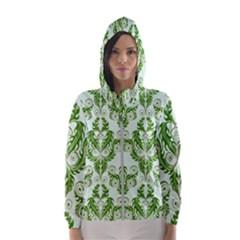 Great Vintage Pattern E Women s Hooded Windbreaker