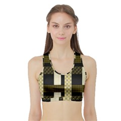 Art-stripes-pattern-design-lines Sports Bra With Border