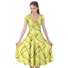 Retro Fun 821c Cap Sleeve Wrap Front Dress