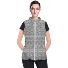 Abstract Silver Ornate Decorative Pattern Women s Puffer Vest by dflcprintsclothing