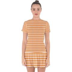 Candy Buttons Drop Hem Mini Chiffon Dress