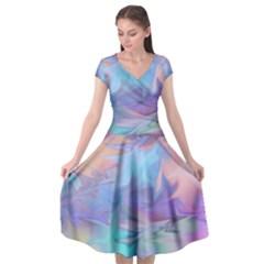 Pastels Cap Sleeve Wrap Front Dress by kiernankallan