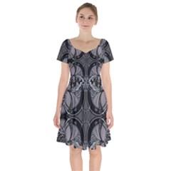 Lunar Phases Short Sleeve Bardot Dress by MRNStudios
