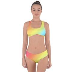 Rainbow Gradient  Criss Cross Bikini Set