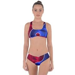 Yin-yang-eastern-asian-philosophy Criss Cross Bikini Set by Sudhe