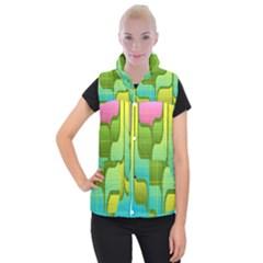 Background-color-texture-bright Women s Button Up Vest by Sudhe