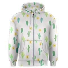 Green Cacti With Sun Men s Zipper Hoodie
