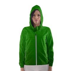 Metallic Mesh Screen 2-green Women s Hooded Windbreaker