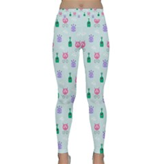 Funny Monsters Aliens Classic Yoga Leggings by SychEva