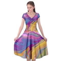 Flow Cap Sleeve Wrap Front Dress by kiernankallan