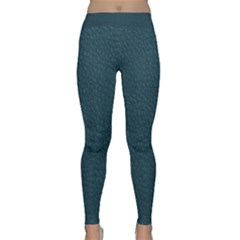 Leatherette 2 Blue Classic Yoga Leggings