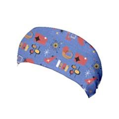 Blue 50s Yoga Headband
