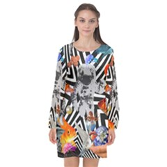 Point Of Entry 2 Long Sleeve Chiffon Shift Dress  by impacteesstreetwearcollage