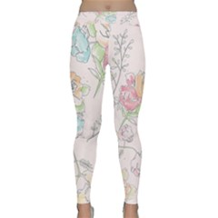 Watercolor Flower Classic Yoga Leggings by coxoas