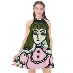Wicked Witch Wall Halter Neckline Chiffon Dress  by snowwhitegirl