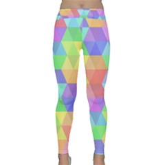 Colorful Hexagonal Background Classic Yoga Leggings by coxoas