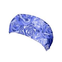 Blue Roses Seamless Floral Pattern Yoga Headband